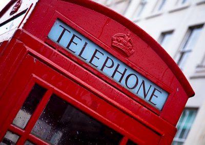 Telefonska govorilnica, Anglija